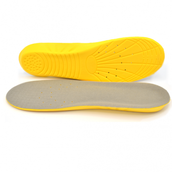Absorbs almost all shock protecting your feet from a number of injuries including plantar fasciitis, shin splints, and knee tendonitis